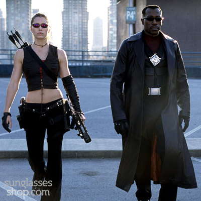 Jessica Biel and Wesley Snipes in Blade Trinity