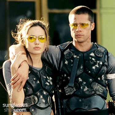 Angelina Jolie and Brad Pitt in Mr and Mrs Smith