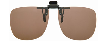 Cocoons Square Clip-on Sunglasses Amber LF201A Polariserade