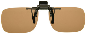 Cocoons Rectangle Clip-on Sunglasses Amber LF401A Polariserade
