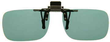 Cocoons Rectangle Clip-on Sunglasses Grå LF401G Polariserade