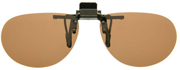 Cocoons Oval Clip-on Sunglasses Amber LF601A Polariserade