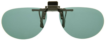 Cocoons Oval Clip-on Sunglasses Grå LF601G Polariserade