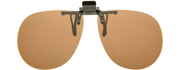 Cocoons Aviator Clip-on Sunglasses Amber LF701A Polariserade