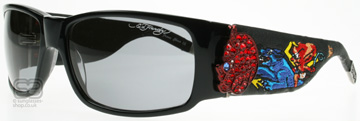 Ed Hardy Devil on Panther Flat Svart Black