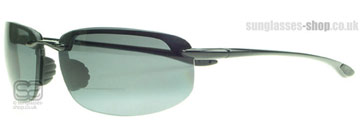 Maui Jim Hookipa Reader Glansig Svart G807-02 Polariserade +1.50 power (G807-0215)