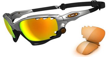 Oakley Racing Jacket Silver OO9171-11 Polariserade