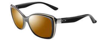 Oakley Women News Flash Svart Shadow OO2025-07 Polariserade