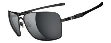 Oakley Plaintiff Squared Mattsvart OO4063-04 Polariserade