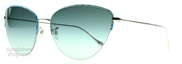 Oliver Peoples Kiley Turkost Siden med Gradient Julep 517019 62