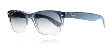 Ray-Ban 2132 Wayfarer Blå Tonad 822/78 Polariserade 52mm