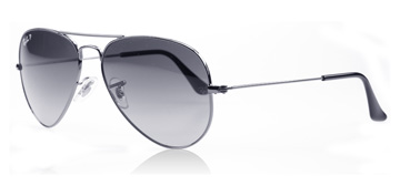 Ray-Ban 3025 Aviator Silver 004/78 Polariserade 55mm