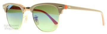 Ray-Ban 3016 Clubmaster Beige på Orange 110116