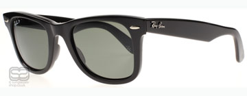 Ray-Ban 2140 Wayfarer Svart 901/58 Polariserade 47 mm (Small)