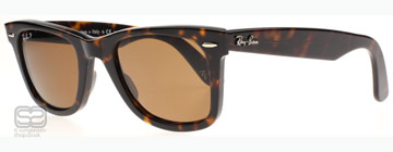 Ray-Ban 2140 Wayfarer Mörkt Sköldpaddsmönster 902/57 Polariserade Medium 50mm