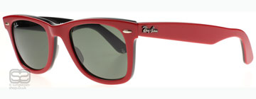 Ray-Ban 2140 Wayfarer Röd på Svart baksida 955 50 mm (Medium)
