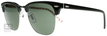 Ray-Ban 3016 Clubmaster Svart på Vit text 1017 Large 51mm