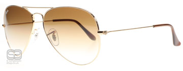 Ray-Ban 3025 Aviator Arista 001/51 Small 55mm