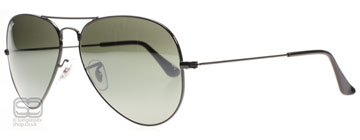Ray-Ban 3025 Aviator Svart 002/37 Medium 58mm