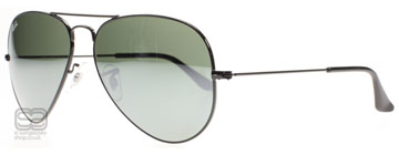 Ray-Ban 3025 Aviator Polerad Svart 002/40 Small 55mm