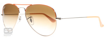 Ray-Ban 3025 Aviator Silver och Orange 071/51 Medium 58mm