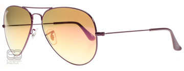 Ray-Ban 3025 Aviator Mörk Violett 076/70 Small 55mm