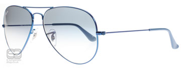 Ray-Ban 3025 Aviator Matt Metall Blå 088/3F 58mm