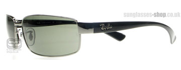 Ray-Ban 3364 Stålgrå och Svart 004/58 Polariserade Large 62mm