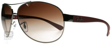 Ray-Ban 3386 Silver och Bordeaux 106/13 63mm
