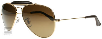 Ray-Ban Outdoorsman Craft Collection Skinande Guld 001/M7 Polariserade 55mm