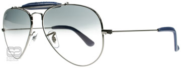 Ray-Ban Outdoorsman Craft Collection Stålgrå 004/32 Large (58mm)