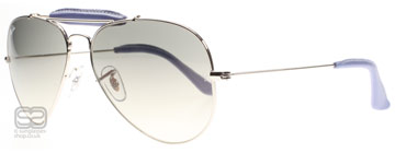 Ray-Ban 3422Q Outdoorsman Craft Collection Silver 108/32 55mm