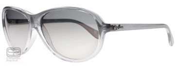 Ray-Ban 4153 Grå Tonad Transparent 818/M3 Polariserade