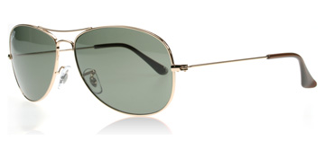 Ray-Ban Cockpit Guld 001/58 Polariserade Large 59mm