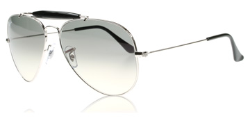 Ray-Ban Outdoorsman II Silver Kristall 003/32 Large 58mm