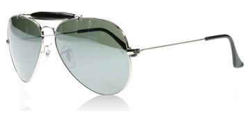 Ray-Ban Outdoorsman II Silver Kristall 003/40 Small 55mm