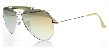 Ray-Ban Outdoorsman II Silver och Gul 003/72 Large 58mm
