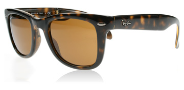 Ray-Ban Folding Wayfarer Ljus Havana Crystal 710 Medium 50mm