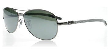 Ray-Ban 8301 Carbon Fibre Silver 004/40 56mm Small