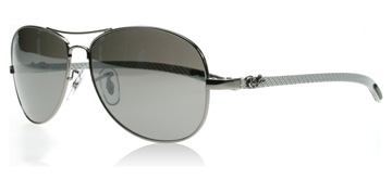Ray-Ban 8301 Carbon Fibre Ljus Silver 004/N8 Polariserade Large 59mm