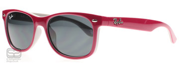 Ray-Ban Junior 9052 Röd Fuxia på Grå 177/87