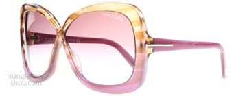 Tom Ford Calgary Brun Lila Gradient 53p
