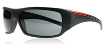 Prada Sport 01LS Matte Black and Black Rubber 1B01A1