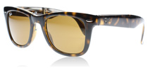 Ray-Ban 4105 Folding Wayfarer Light Havana Crystal 710 Medium 50mm