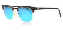 Ray-Ban 3016 Clubmaster 3016 Clubmaster Tortoise Shell and Gold 114517