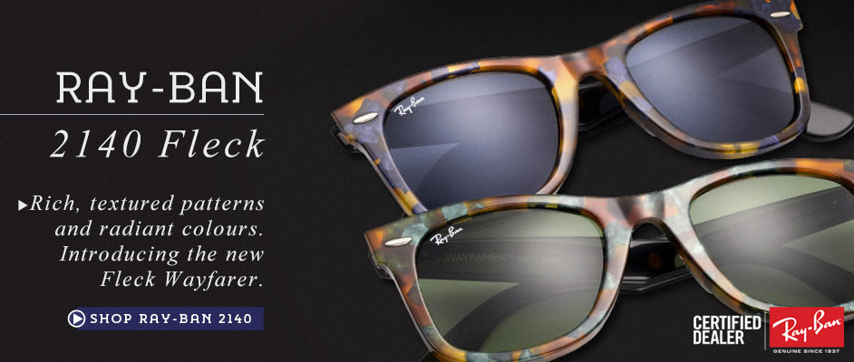 Ray-Ban 2140 Fleck Wayfarer at Sunglasses Shop